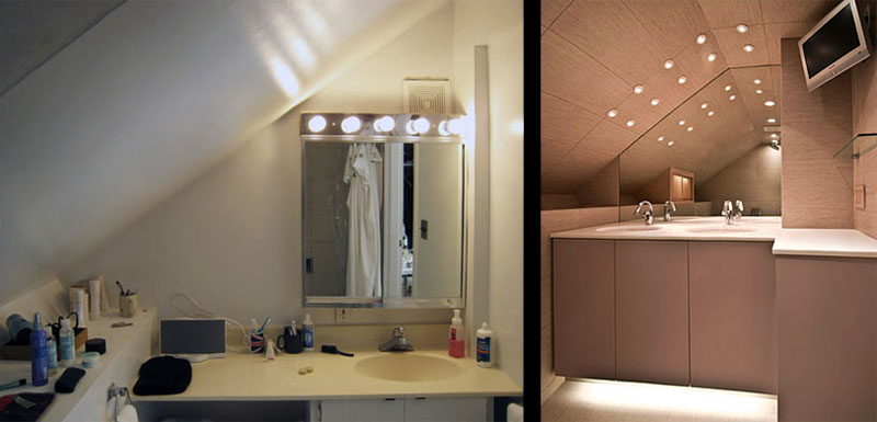 Small Bathroom Designs Slanted Ceiling shower curtains for slanted ceilings | interior home design | home